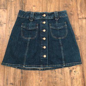 Madewell Demin Button-Up Skirt Size 2